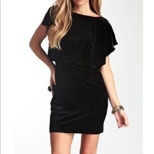 Jessica Simpson Flutter Sleeve Velvet Dress NWT